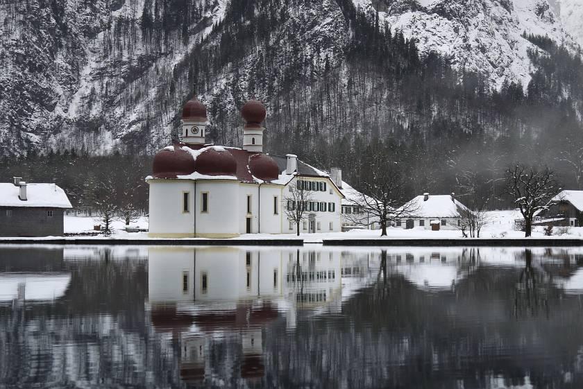 德國-阿爾卑斯山-國王湖教堂