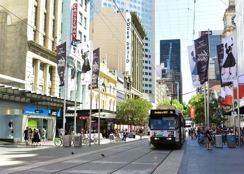墨爾本-Bourke Street-Tram