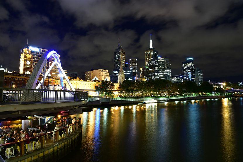 墨爾本-亞拉河南岸South Bank夜景
