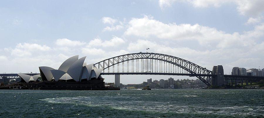 雪梨-雪梨港灣大橋與雪梨歌劇院
