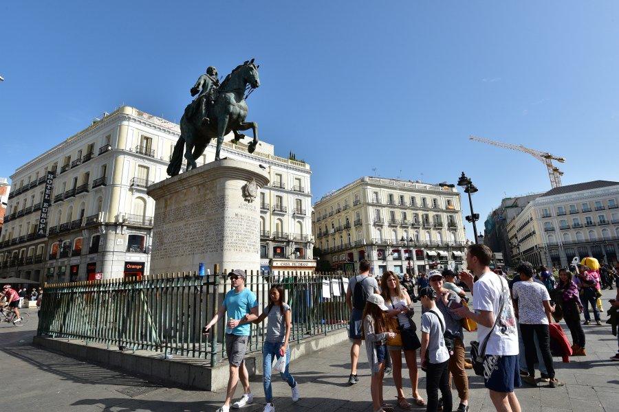西班牙-馬德里-太陽門廣場